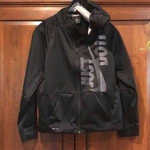 Boys XL extra large Nike hoodie jacket EUC black